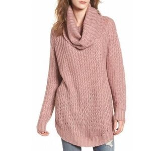 Dreamers by Debut mauve small cowl neck sweater